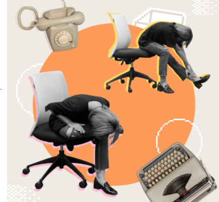 """Office Syndrome"", stretch to relax the muscles"